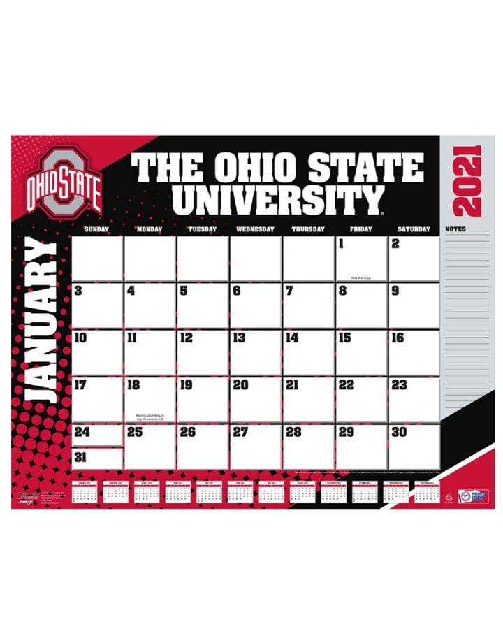 Ohio State Buckeyes 2021 Desk Pad Calendar   Everything Buckeyes