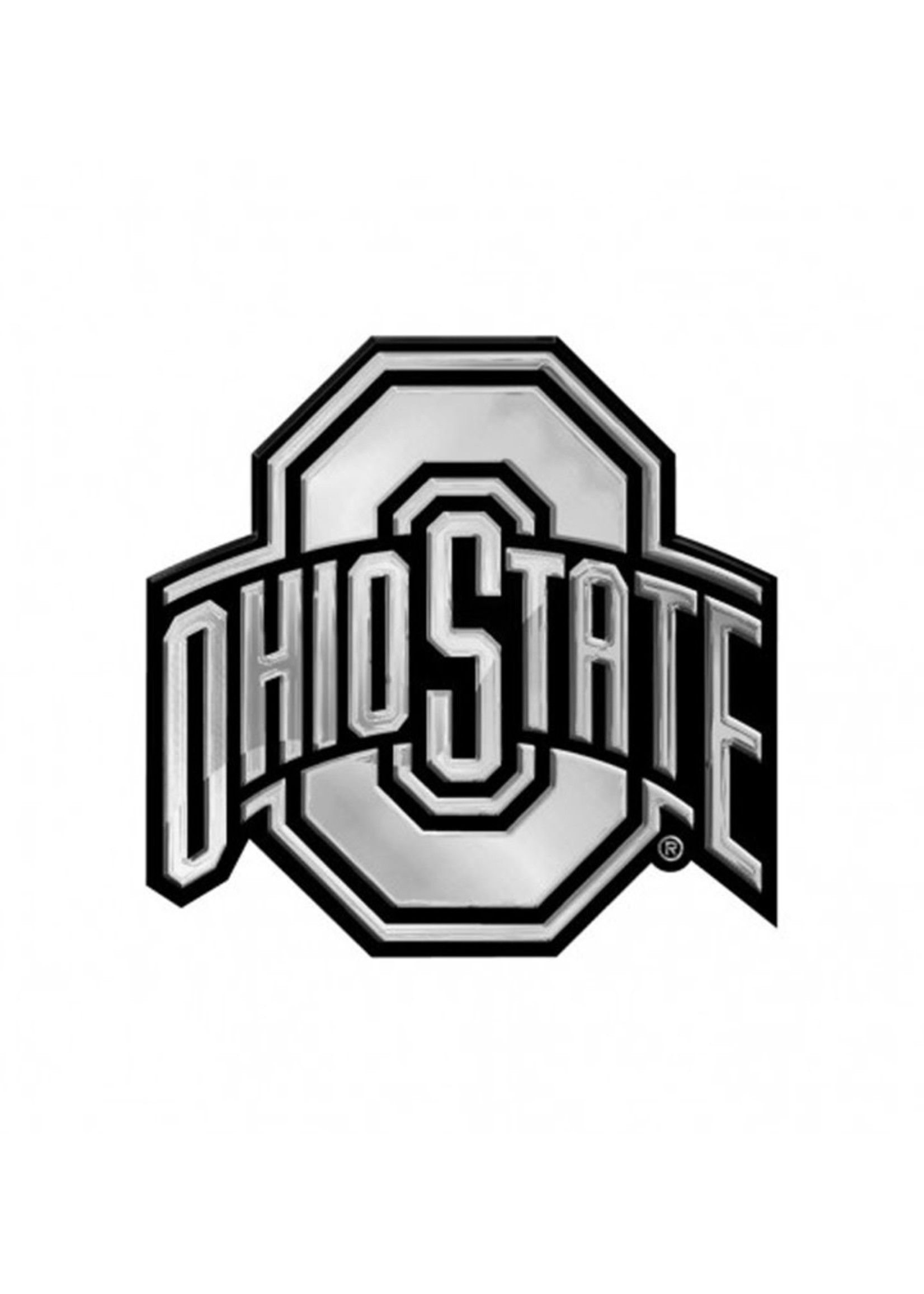 Wincraft Ohio State Buckeyes Acrylic Monochrome Auto Emblem