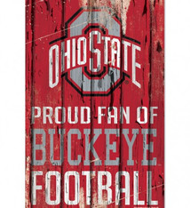 "Wincraft Ohio State Buckeyes Proud Fan Wood Sign 11"" x 17"""