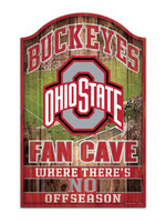"Wincraft Ohio State Buckeyes Fan Cave Wood Sign 11"" x 17"""