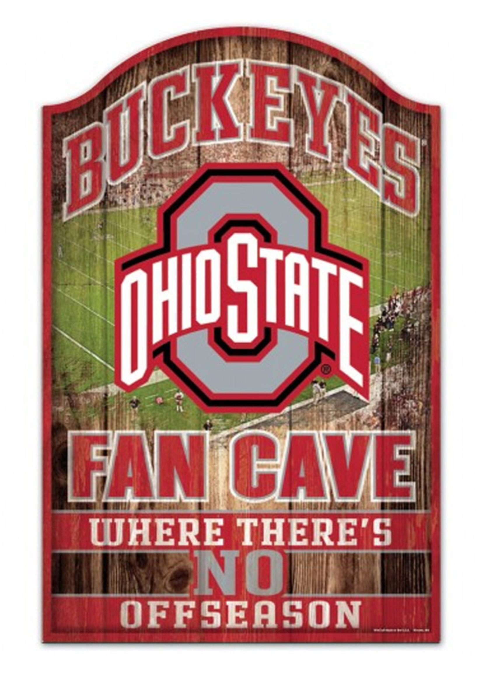 """Wincraft Ohio State Buckeyes Fan Cave Wood Sign 11"""" x 17"""""""