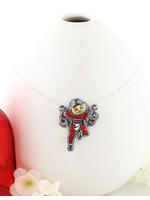 "Ohio State ""Brutus"" Crystal Logo Necklace"