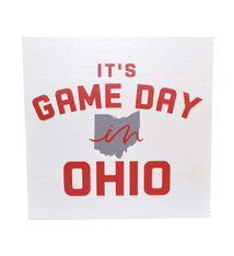 Ohio Gameday Wood Block