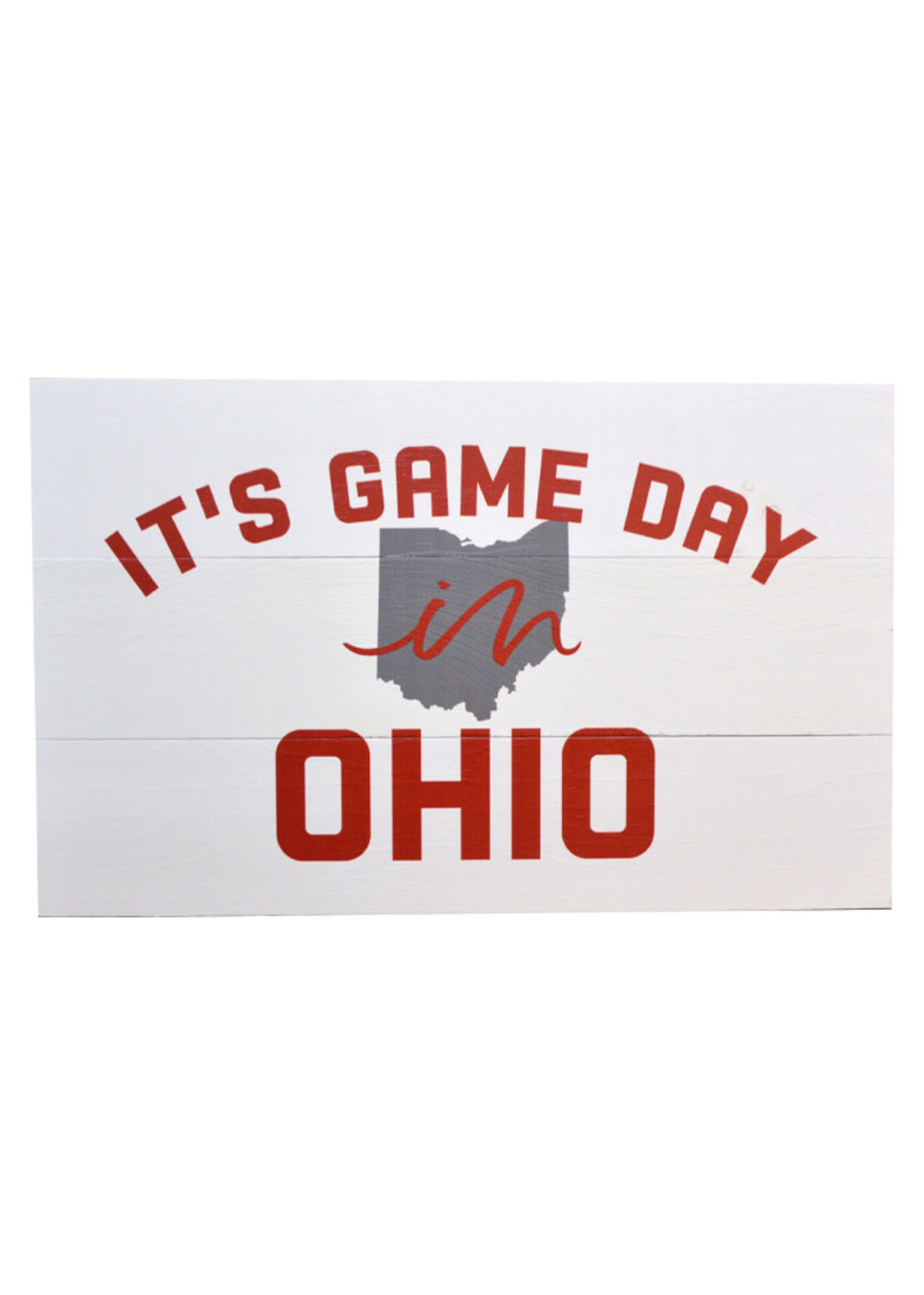 It's Game Day in Ohio Pallet Decor