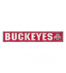 "Ohio State Buckeyes Wood Sign 6""x36"""