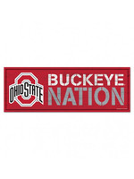 "Ohio State Buckeye Nation Wood Sign 8""x23"""