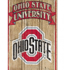 "Ohio State University Wood Sign 15""x24"""