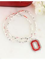 Ohio State Buckeyes Block O Crystal Stretch Bracelet