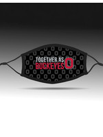 Bend Together As Buckeyes Adjustable Fit Face Covering/Black