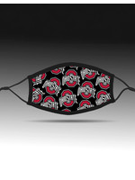 Bend Ohio State Buckeyes Athletic O Adjustable Fit Face Covering