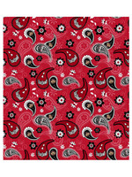 "Ohio State Buckeyes Cotton Fabric Paisley - Fat Quarter 27""x18"""