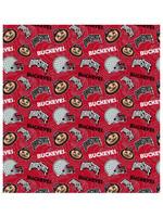 "Ohio State Buckeyes Cotton Fabric Tone on Tone - Fat Quarter 27""x18"""