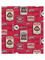 "Ohio State Buckeyes Cotton Fabric Vintage Pennant - Fat Quarter 27""x18"""