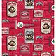 "Ohio State Buckeyes Cotton Fabric Vintage Pennant - Fat Quarter 27""x18"""