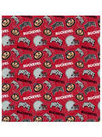 Ohio State Buckeyes Cotton Fabric Tone on Tone - 2 YardsX45inches
