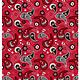 Ohio State Buckeyes Cotton Fabric Paisley - 2 YardsX45inches