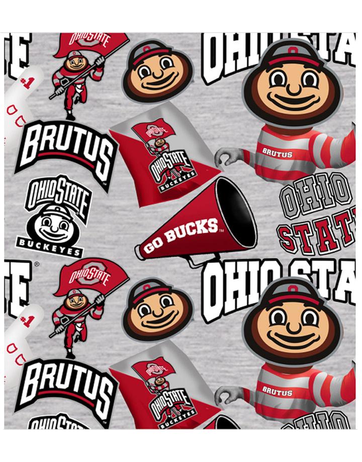 Ohio State Buckeyes Cotton Fabric Collegiate Mascot - 2 YardsX45inches
