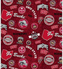 Ohio State Buckeyes Cotton Fabric Home State - 2 YardsX45inches