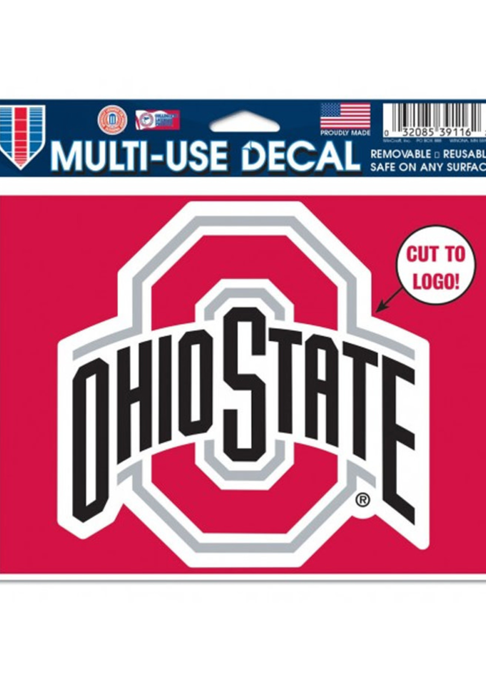 "Wincraft Ohio State Buckeyes Multi-Use Decal - 5"" x 6"""