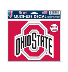 "Wincraft Ohio State Buckeyes Multi-Use Decal - 5"" x 6"""