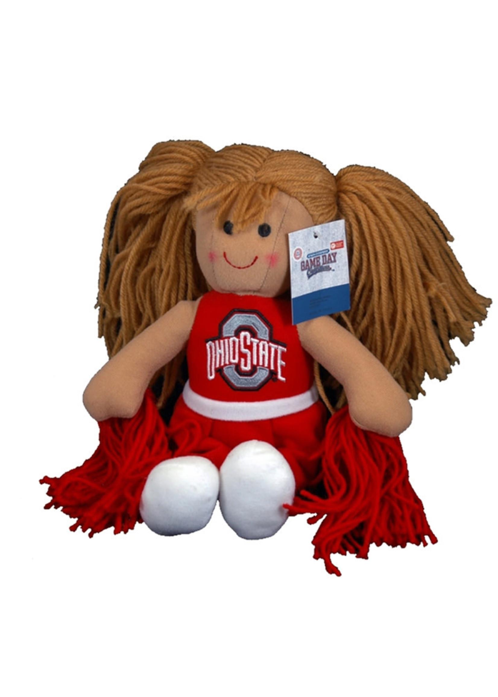 Ohio State Buckeyes Plush Cheerleader Doll