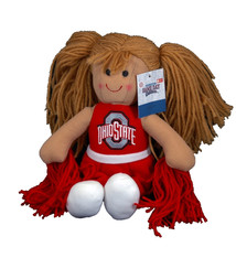 Ohio State Buckeyes Plush Cheerleader Doll