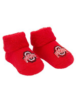 Ohio State Buckeyes Red Baby Booties