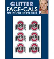 Wincraft Ohio State Buckeyes Glitter Face Decals