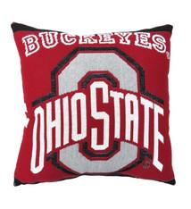 "Ohio State University 20"" Square Decorative Woven Pillow"