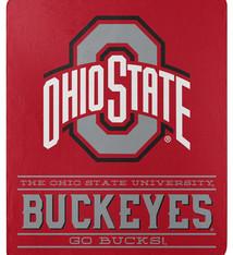 Ohio State Buckeyes 50'' x 60'' Fleece Throw Blanket