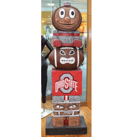Ohio State Tiki Totem - 6 Foot Tall