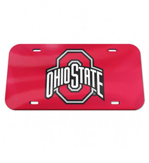 Wincraft Ohio State Buckeyes Red Acrylic Front License Plate