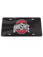 Wincraft Ohio State Buckeyes Black Acrylic Front License Plate