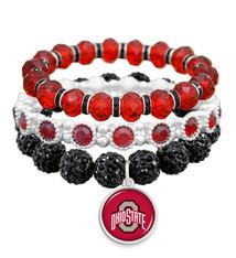 Ohio State Buckeyes Bracelet- Amanda Stack- Crystal