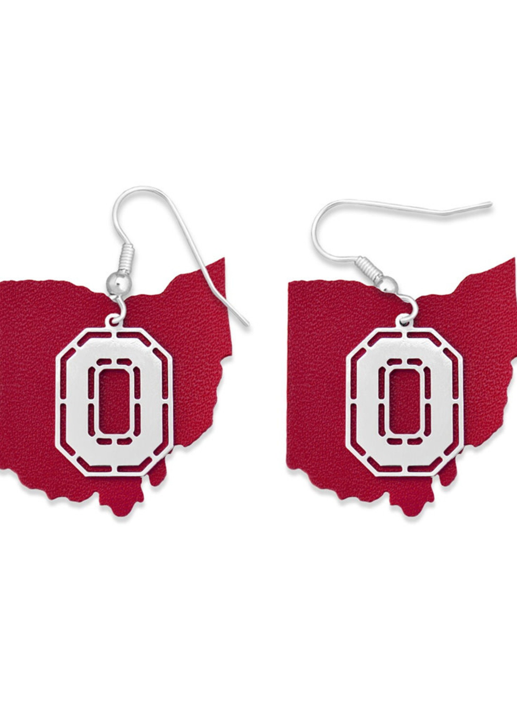 Ohio State Buckeyes Earrings- Home Team