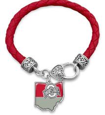 Ohio State Buckeyes Bracelet- Tara