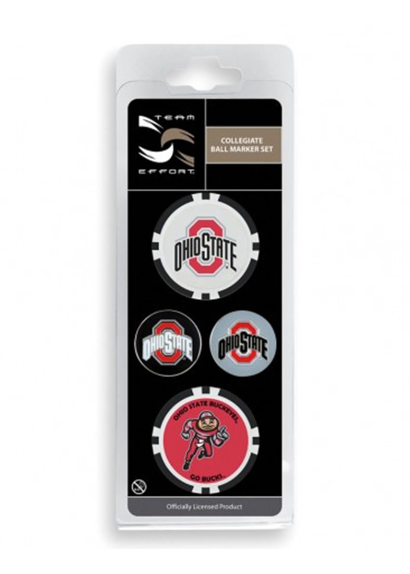 Ohio State University Ball Marker 4 Pack
