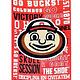 Ohio State Buckeyes Garden Flag - Brutus / Athletic O - 2 Sided