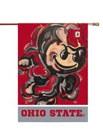 """Ohio State Buckeyes Brutus House Flag - 29""""x43"""""""