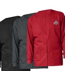 WONDER WINK SCRUBS Ohio State Buckeyes Unisex Snap Front Jacket