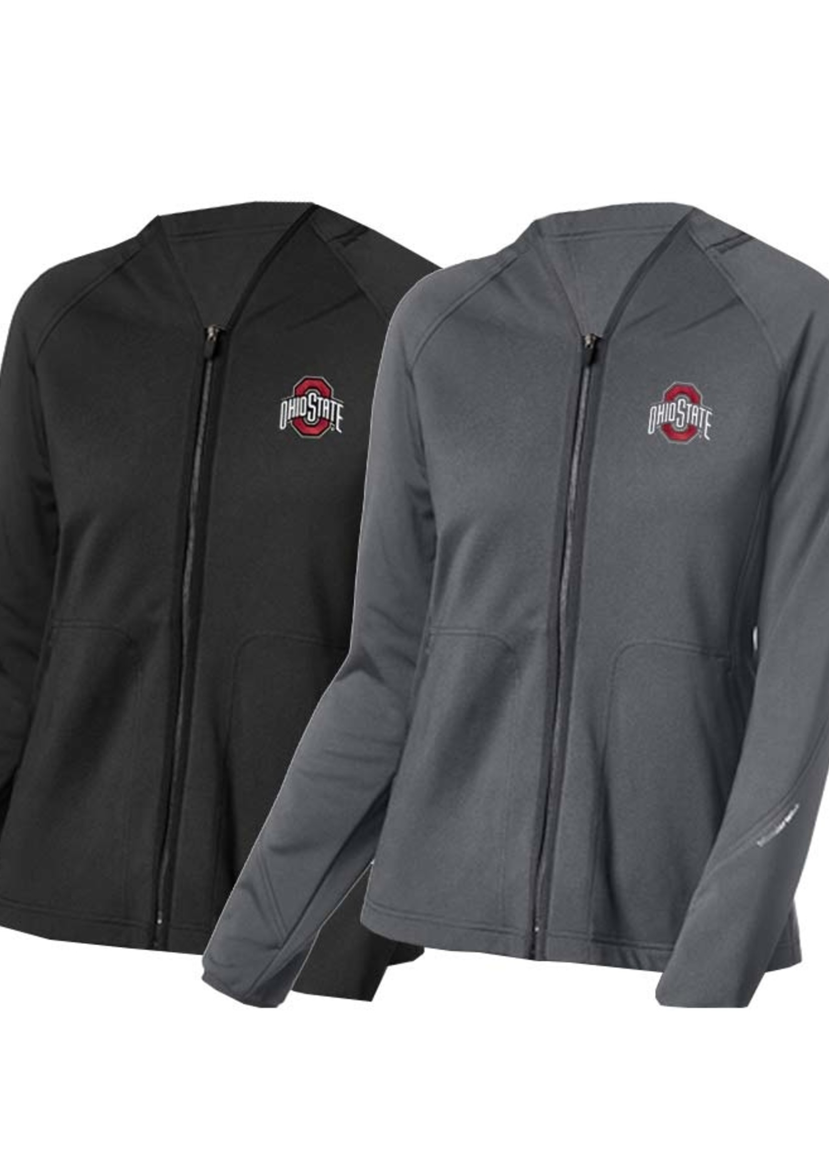 Wonder Wink Scrubs Ohio State Buckeyes Women's Fleece Full Zip Jacket