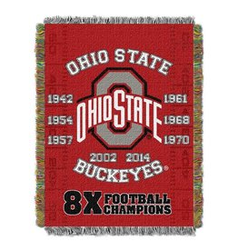 Ohio State Buckeyes Commerative Woven Tapestry Throw