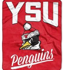 """Youngstown State Penguins """"Alumni"""" Raschel Throw Blanket"""
