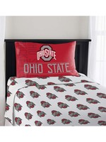 Ohio State Buckeyes 3 Piece Twin Sheet Set