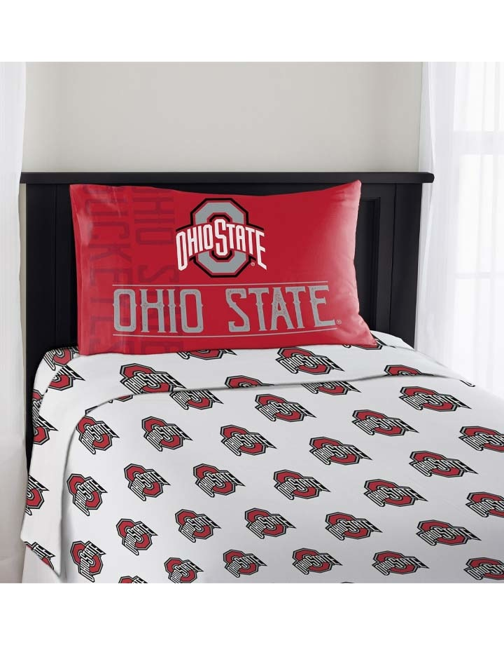 Ohio State Buckeyes 3 Piece Twin Sheet Set