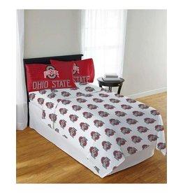 Ohio State Buckeyes 4 Piece Full Sheet Set