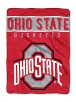 Ohio State Buckeyes 60 x 80 Plush Fleece Raschel Blanket
