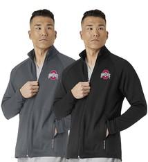 WONDER WINK SCRUBS Ohio State Buckeyes Men's Fleece Full Zip Jacket