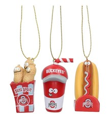 Ohio State Buckeyes Snack Pack Ornament Set