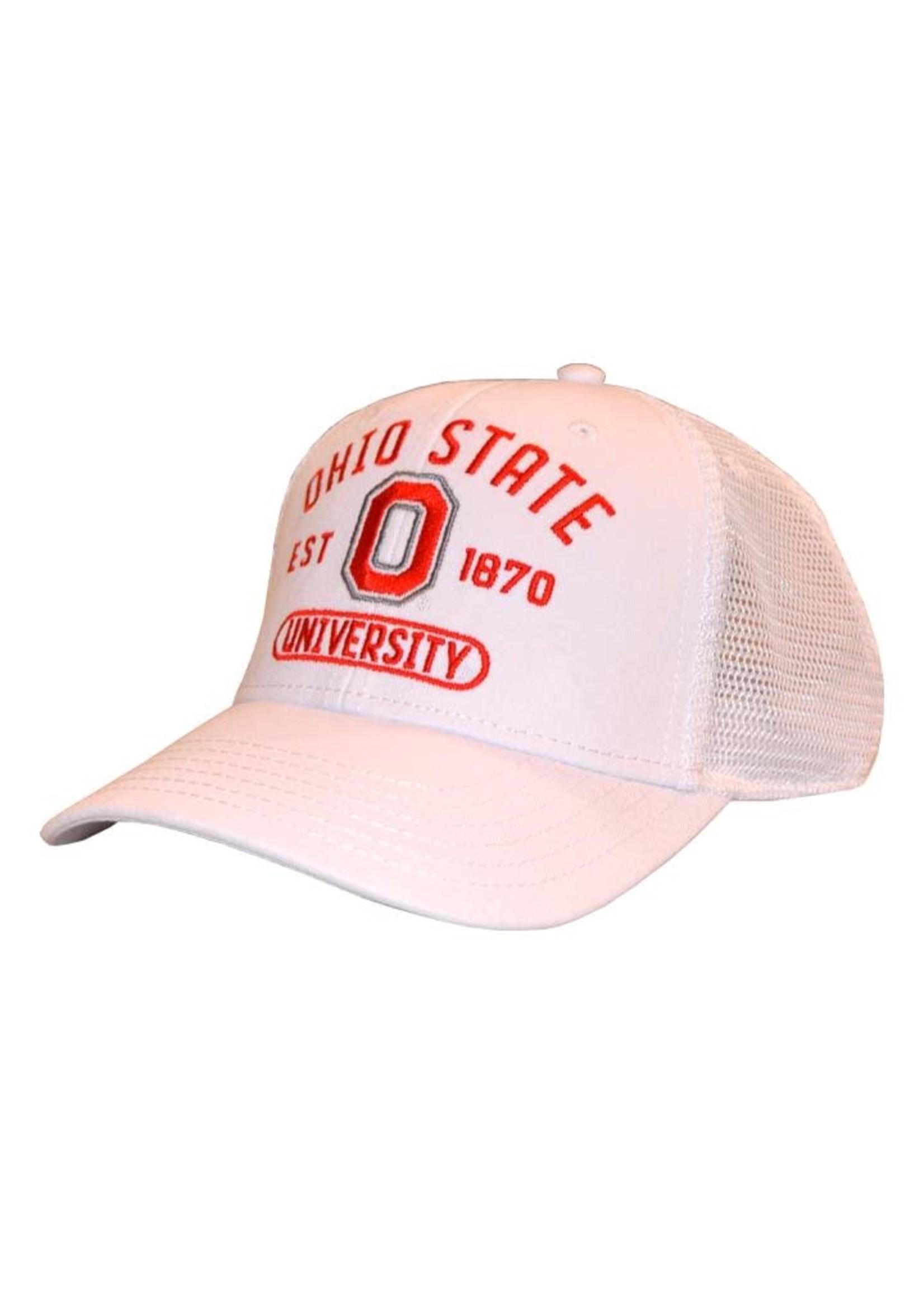 Top of the World Ohio State Buckeyes White Mesh Snapback